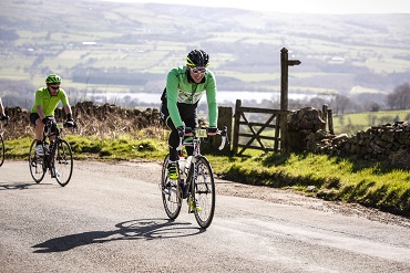 Paul Coulter riding in the Cheshire Cat Sportive 2017