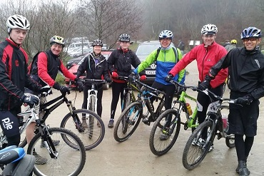 Cheshire CAT cyclists on a social ride around Llandegla