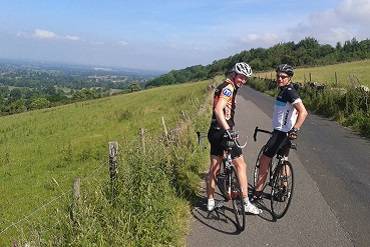 Cheshire CAT cyclists training in the Peak District