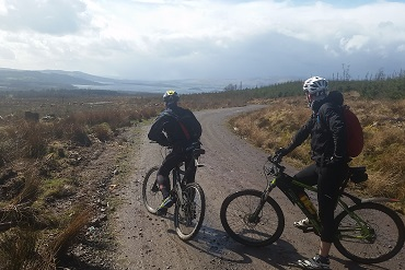 Cheshire CAT cyclists riding the West Highland Way