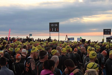 Cheshire CAT athletes at the start of Ironman Barcelona 2015
